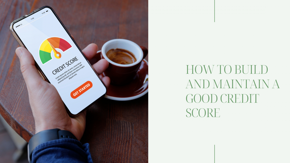 man holding phone looking at credit score