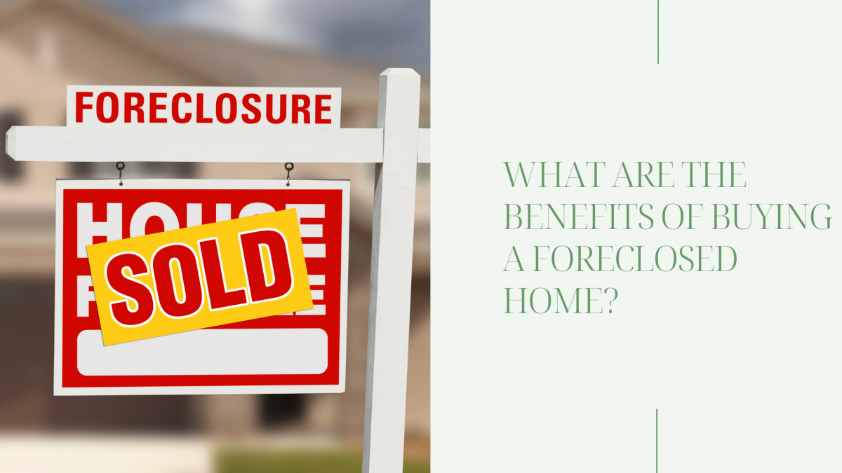 Sold sign on a foreclosed home